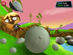 free iPhone app Roll: Boulder Smash
