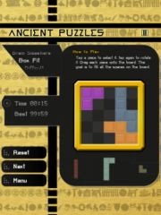 free iPhone app Ancient Puzzles HD