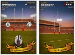 free iPhone app Flick Kick Rugby