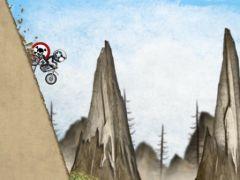 free iPhone app Stickman Downhill - Motocross