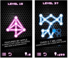 free iPhone app Glow Puzzle