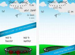 free iPhone app Stickman Trampoline PRO