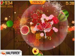 free iPhone app Fruit Ninja HD