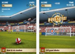 free iPhone app Flick Kick Football