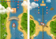 free iPhone app Little Boat River Rush