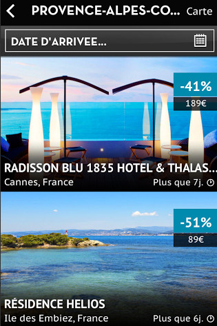 Appli iphone et ipad verychic h tels extraordinaires for Hotels a prix reduits