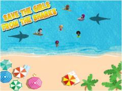 free iPhone app Beach Party Shark Attack HD