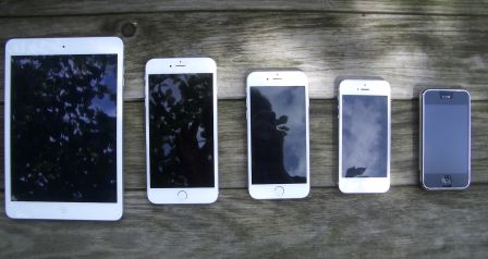 iphone 6 6 ipad mini iphone 1 nexus posent en photos et volution de l 39 iphone en gif anim. Black Bedroom Furniture Sets. Home Design Ideas