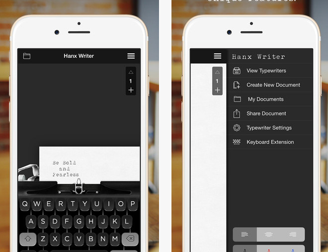 le clavier machine  u00e0  u00e9crire de tom hanks disponible sur iphone