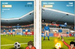 free iPhone app Flick Kick Football