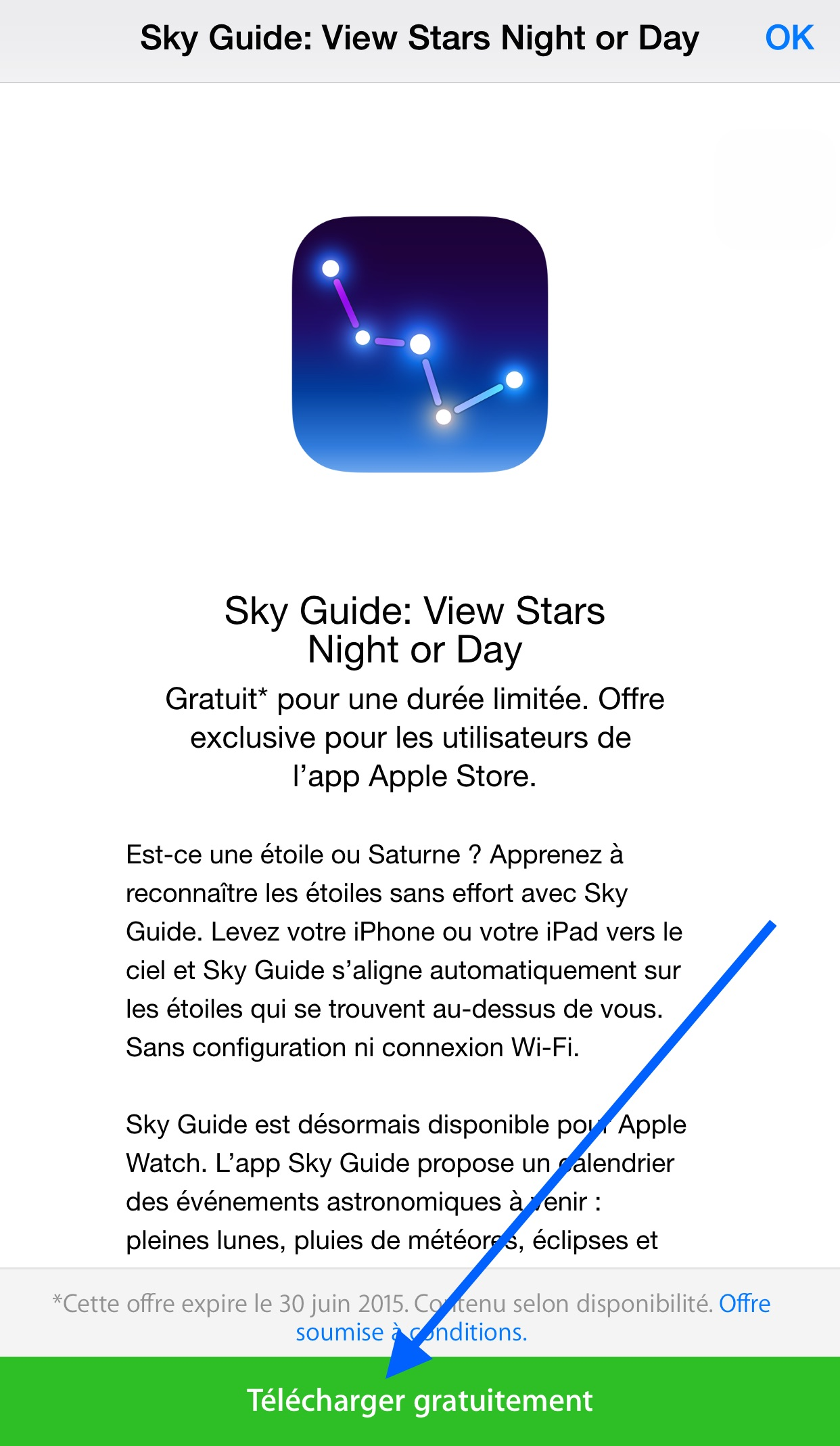 bon plan comment t l charger sky guide gratuitement sur iphone et ipad et apple watch. Black Bedroom Furniture Sets. Home Design Ideas
