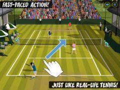 free iPhone app Flick Tennis HD