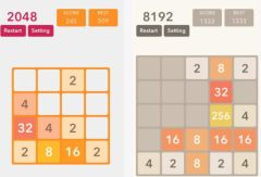 free iPhone app 2048 Game With New Levels