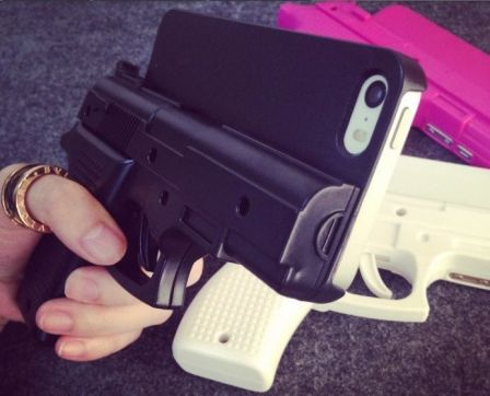 .coque iphone pistolet 2 m