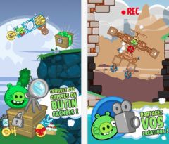 free iPhone app Bad Piggies HD