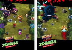 free iPhone app Ninja vs Samurai Zombies