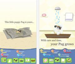 free iPhone app Growing Pug