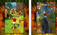 free iPhone app Caveman Dino Rush