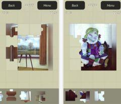 free iPhone app Classic Art Puzzles