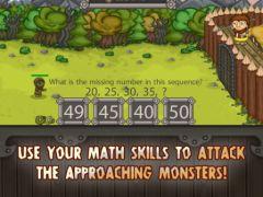 free iPhone app King of Math Defense