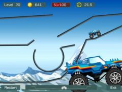 free iPhone app Monster Stunts