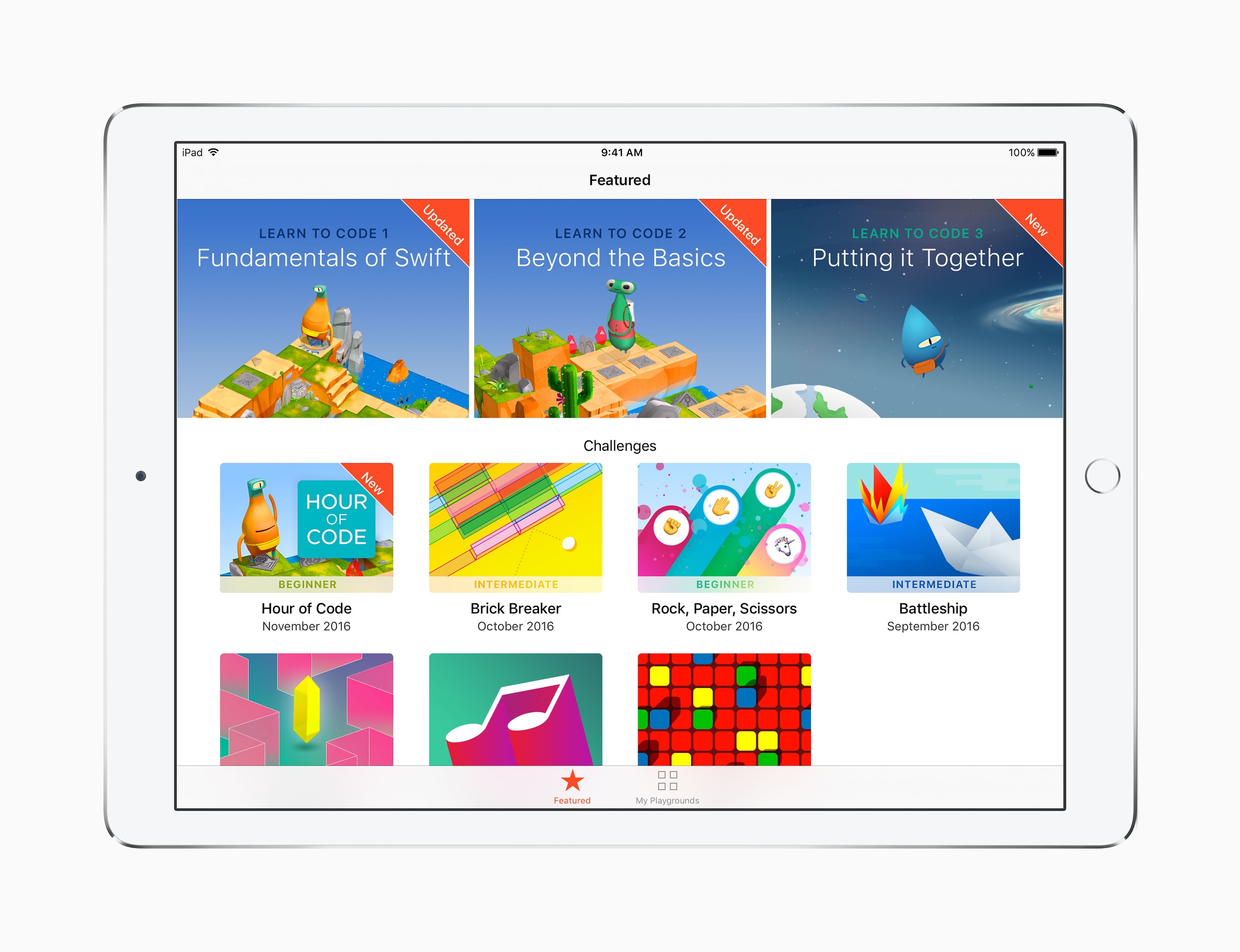 ateliers heure de code dans les apple store du monde entier et nouveaut s swift playgrounds. Black Bedroom Furniture Sets. Home Design Ideas