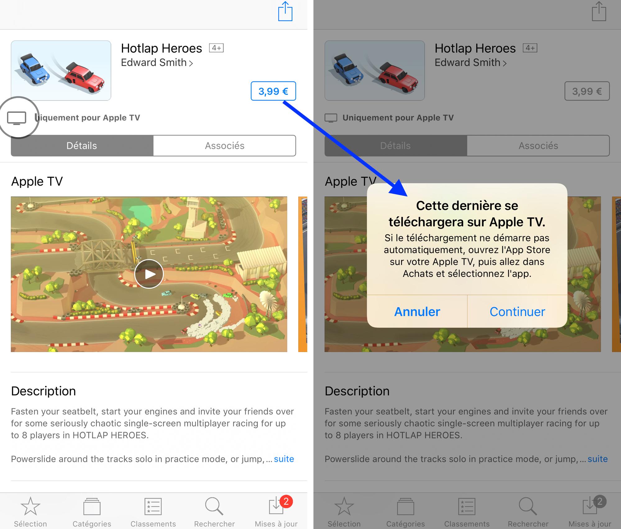 installer des applications sur apple tv
