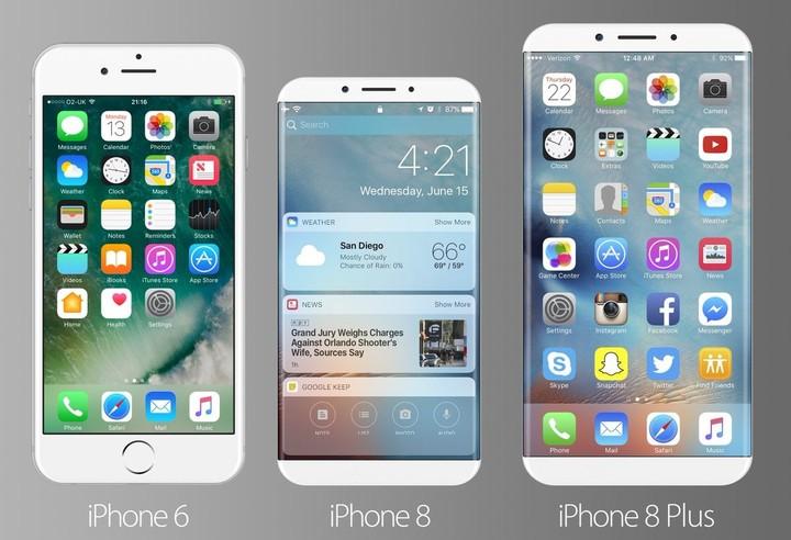 quelle taille pour un iphone 8 sans bordure tr s compact selon ce concept iphone x 8. Black Bedroom Furniture Sets. Home Design Ideas