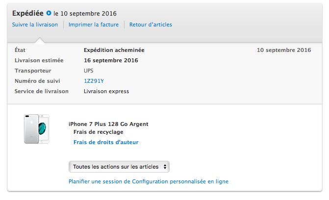 livraisons iphone 7 et apple watch apple confirme les envois pour le 16 iphone xs xr. Black Bedroom Furniture Sets. Home Design Ideas