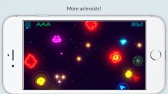 free iPhone app Glow Asteroids Shooter