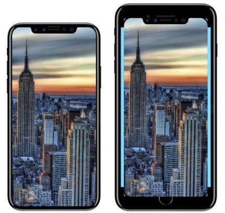 En images comment le grand cran de l iphone 8 se compare for Ecran pc taille