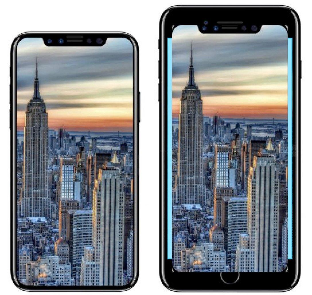 en images comment le grand cran de l iphone 8 se compare aux iphone 7 7 plus et 8 plus pour. Black Bedroom Furniture Sets. Home Design Ideas