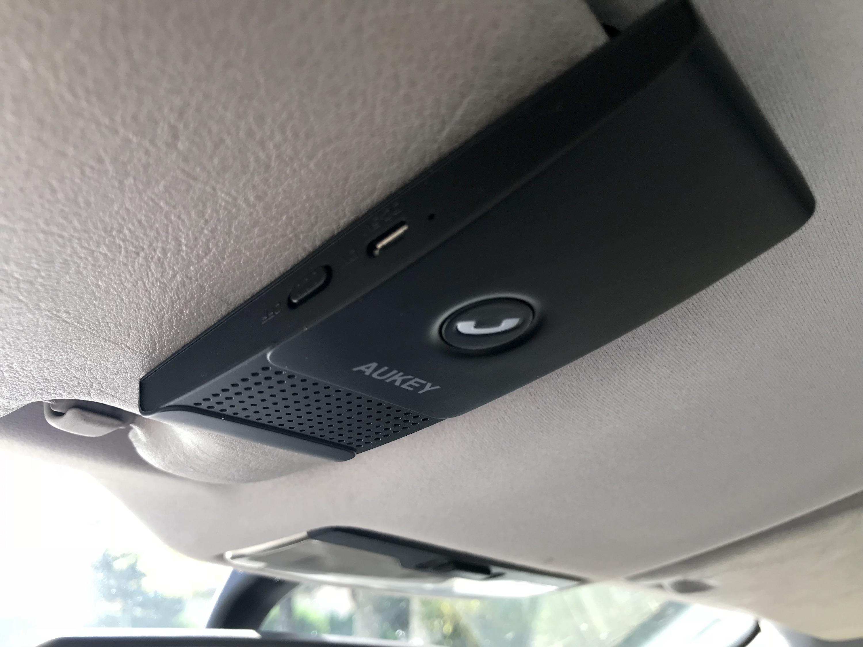 test du kit main libre bluetooth pour l auto aukey avec codes promos accessoires auto. Black Bedroom Furniture Sets. Home Design Ideas