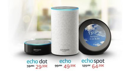 dernier jour les enceintes actives amazon echo 50 aussi avec pack hue avant l 39 arriv e. Black Bedroom Furniture Sets. Home Design Ideas