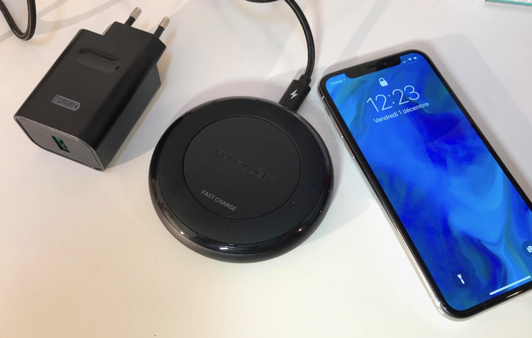 test du chargeur sans fil ravpower 7 5 w pour iphone x et iphone 8 iphone x 8 ipad et apple. Black Bedroom Furniture Sets. Home Design Ideas