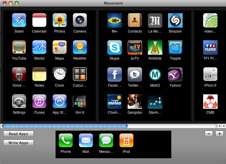 rangez et organisez vos application iphone avec movement. Black Bedroom Furniture Sets. Home Design Ideas