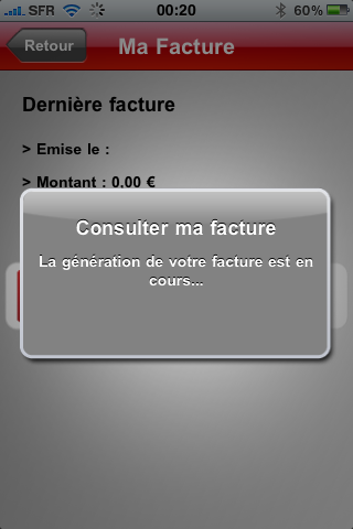 SFR sort sa nouvelle application : SFR MON COMPTE - iPhone 4S ...