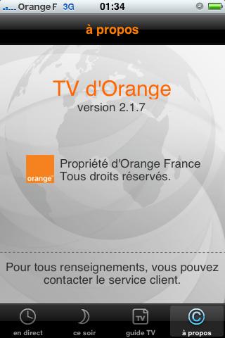 post  L application TV d Orange disponible