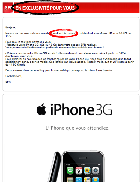 SFR sait faire rire - iPhone 4S, iPad, iPod touch : le blog iPhon.