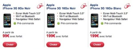 iphone chez sfr