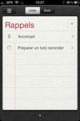 pratique iphone ios 5 utiliser l 39 application rappels pour ne plus rien oublier. Black Bedroom Furniture Sets. Home Design Ideas
