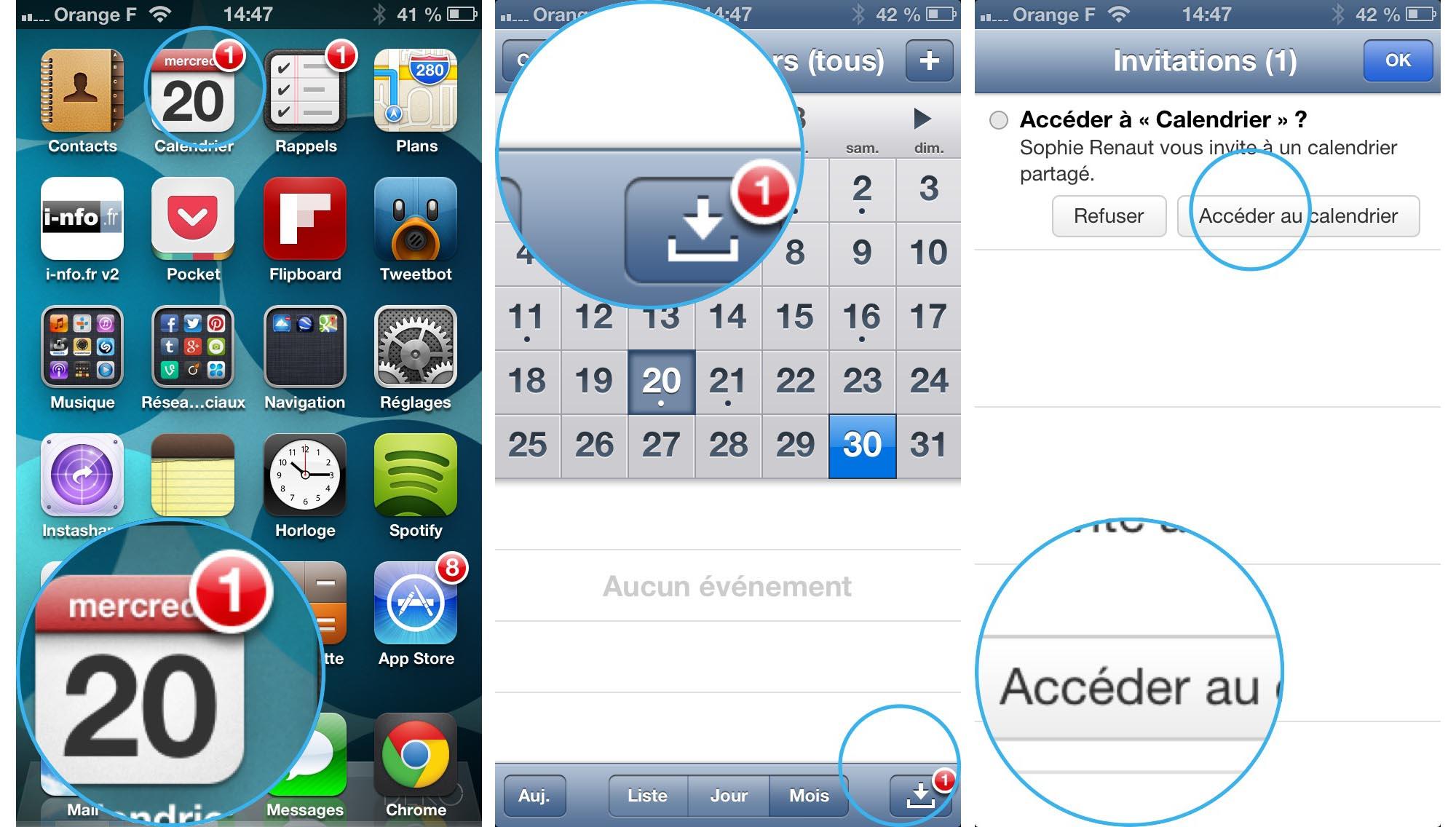 agenda partagé gmail