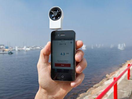 mesurez la vitesse du vent avec cet accessoire pour iphone. Black Bedroom Furniture Sets. Home Design Ideas