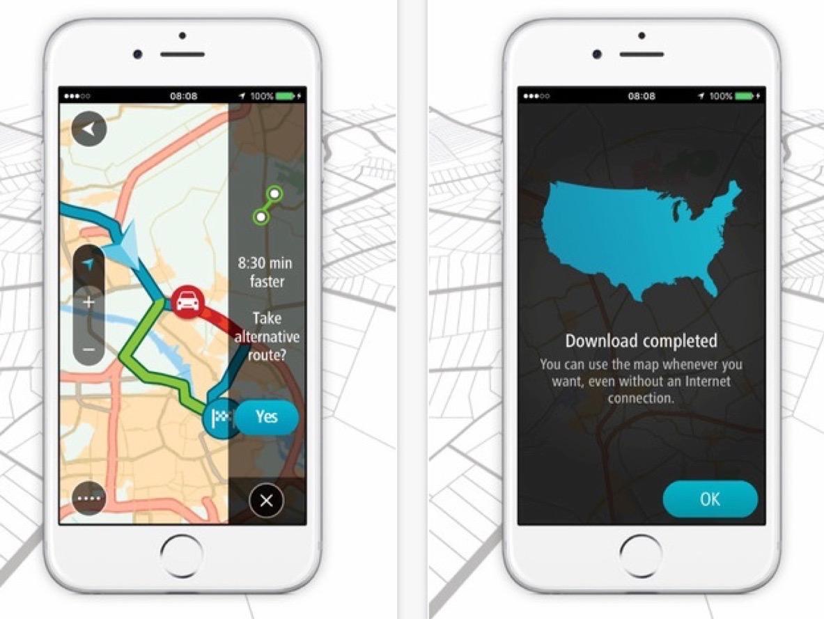 tomtom lance go nouvelle app iphone de guidage gps nouveau mod le et km gratuits chaque mois. Black Bedroom Furniture Sets. Home Design Ideas