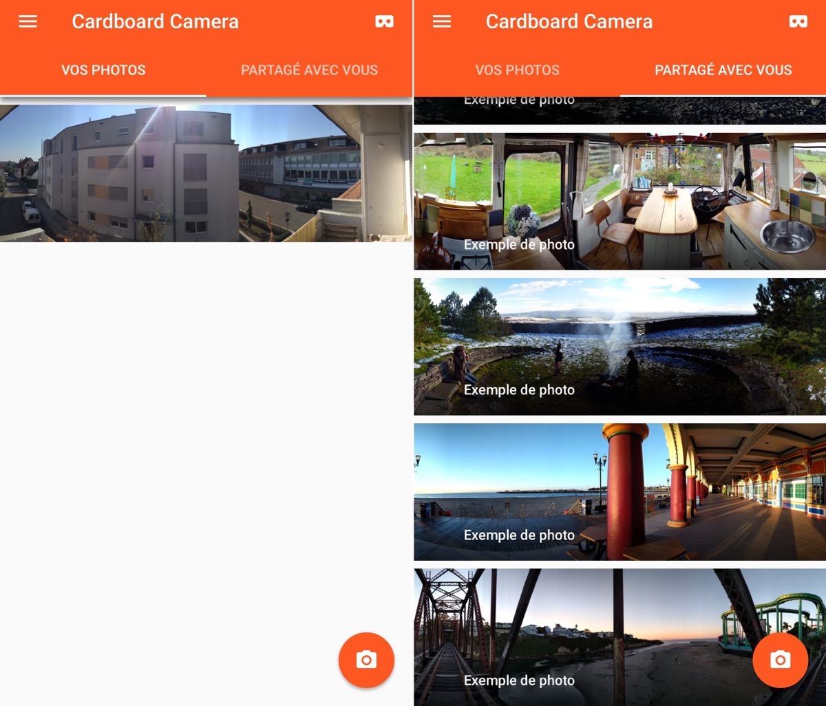cardboard camera l 39 app de google pour prendre et visionner des photos en vr est disponible. Black Bedroom Furniture Sets. Home Design Ideas