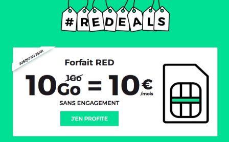 prolong le forfait 10 go 10 euros vie chez sfr red iphone x 8 ipad et apple watch. Black Bedroom Furniture Sets. Home Design Ideas