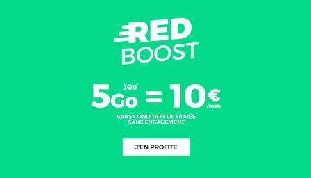petite promo chez sfr red data boost e sur le forfait 10 euros mensuels. Black Bedroom Furniture Sets. Home Design Ideas