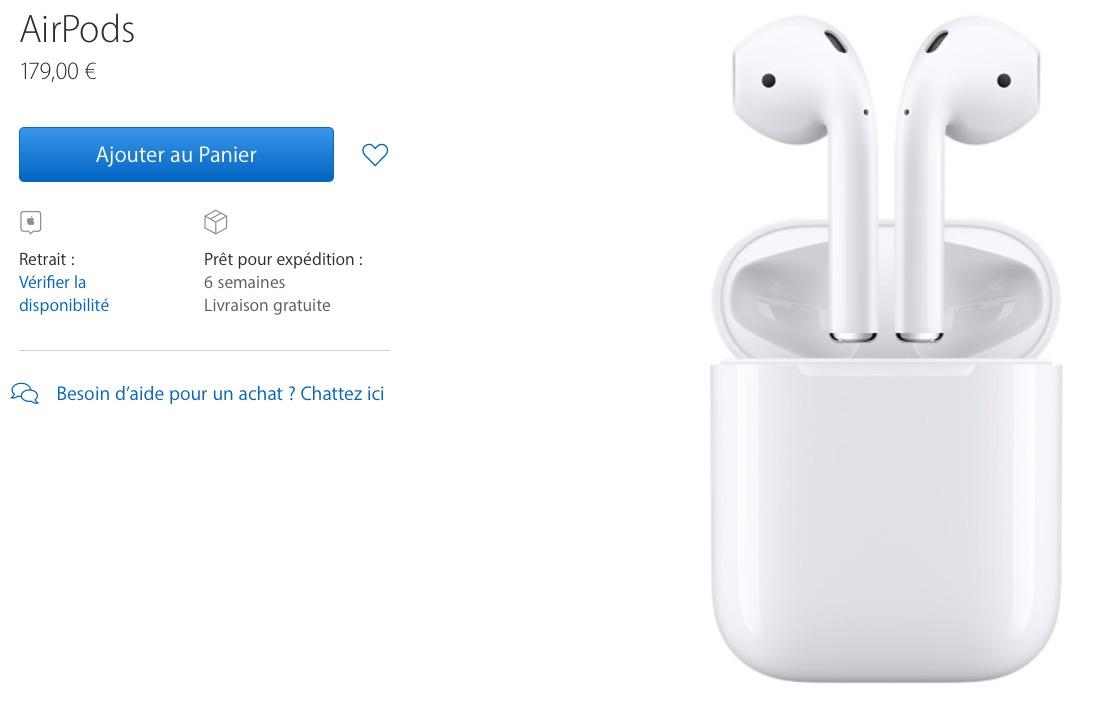 Où acheter les AirPods d'Apple, ou trouver les AirPods moins