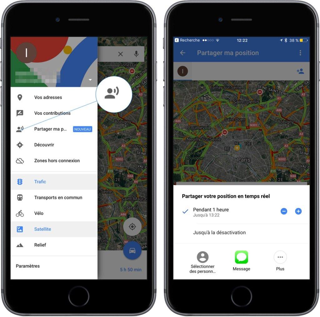 Google Maps Astuce Partager Position 2