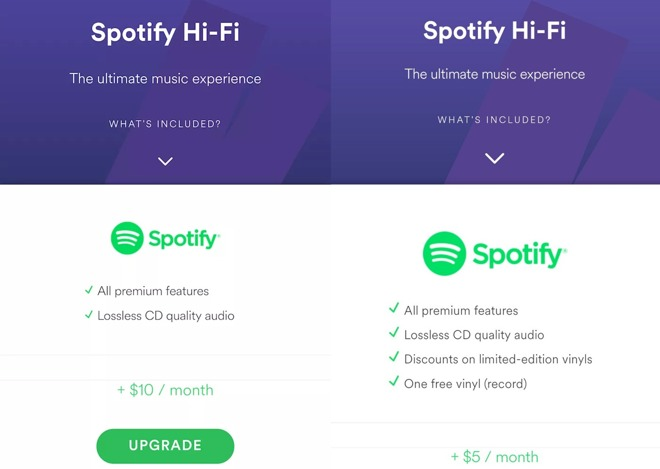 spotify pourrait ajouter une option hi fi son offre de streaming audio. Black Bedroom Furniture Sets. Home Design Ideas
